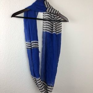 Infinity Women's Scarf, Blue and White